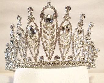 Amazing Vintage Swarovski Rhinestone Tiara Crown