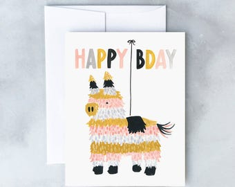 Piñata Birthday Greeting Card