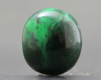 Maw Sit Sit Jade Beautiful Green and Black Rare Gemstone, Burma (CA8552)