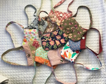 Adorable Little Girl Purses With Button Closure! Many Patterns to Choose From!