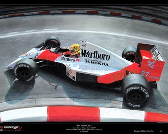 Ayrton Senna McLaren Monaco 1990 Ltd. Edition Art Print from an original painting