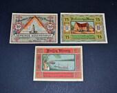 German banknotes 3 Notgelds 1921-1922 uncirculated