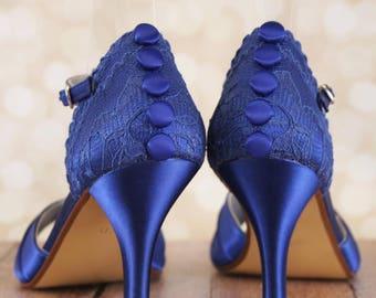 Sapphire Blue Wedding Shoes, Wedding Shoes Blue, Something Blue, Something Blue Shoes, Custom Wedding Shoes, Bridal Heels, Blue Bridal Shoes