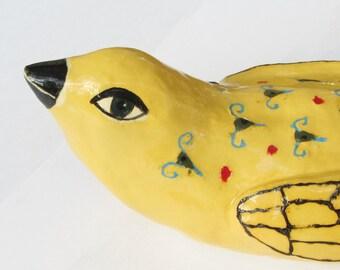 ceramic bird; ceramic sculpture; ceramic art; pottery bird