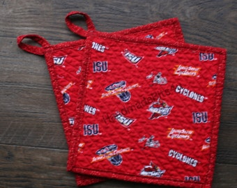 ISU - Iowa State University - Hand Chenilled Back - Set of 2