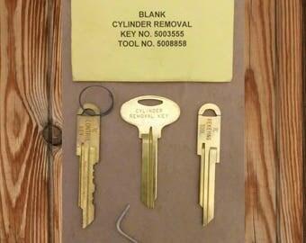 Vintage Blank Cylinder Removal Keys