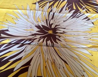 Foulard FLOWER - PATRICIA DUMONT - Vintage - 100% Silk - Original - Sixties