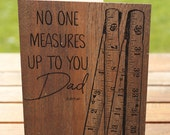 Father's Day Card: No One Measures Up To You Dad Ruler | A7 5x7 Folded - Blank Inside - Wholesale Available