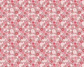 Calico Flowers on Pink from Riley Blake's Cowgirl Collection by Samantha Walker