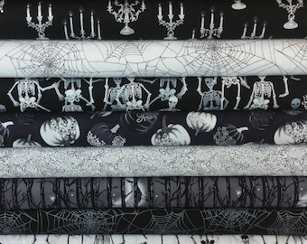The Metallic Fright Night Collection from Henry Glass (10 Fabrics)