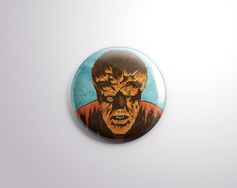 The Wolfman Pin Back Button - 1.25 Inch - Universal Monster