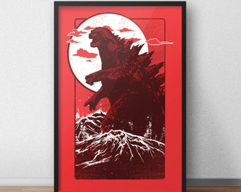 Godzilla - 12 x 18 inches -  King of the Monsters