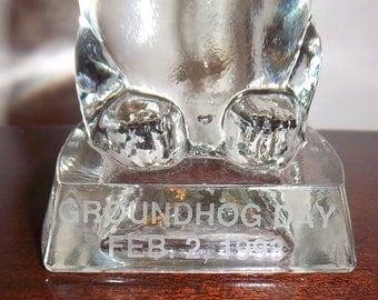 Rare Punxsutawney Groundhog Day Movie Preview Phil Statue , PA Feb. 2, 1993