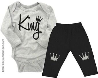 Baby Boy Clothes, Newborn Boy, Boys Layette,King, Boys Onesie, Cute Baby Clothes, Boys Outfits,Baby Shower, Boy Baby Shower, New Baby Gift