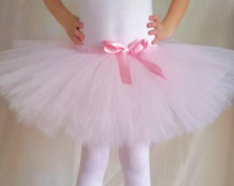 Pink Tutu, Light Pink Tutu, Birthday Outfit, Party Tutu, Baby Shower Gift, Cotton Candy, Ballerina Tutu, Princess Tutu, sizes 0-3mos - 4/5