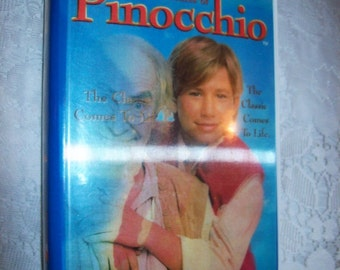 SAlE 20% Off Pinocchio Vintage VHS Tape 1996 Limited Edition Magic Action Art Cover Now 6.40 USD