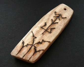 English Oak Rune Pendant: 'Shield' (5)