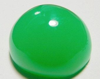 Chrysoprase designer cab glowing green AAA+  maraborough  oval 27.68 ct.Eye clean cabochon