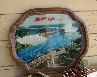 Retro Niagara Falls Decorative Tray - Kitsch Vintage Bright Souvenir Collectible, Wall Art, Retro Souvenir, Mid Century Souvenir, Wall Decor
