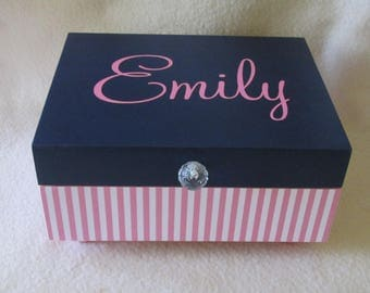 Keepsake Box,  Memory Box, Gift Box, Pink Keepsake Box - Shower Gift