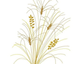 Wheat Machine Embroidery Design - Instant Download