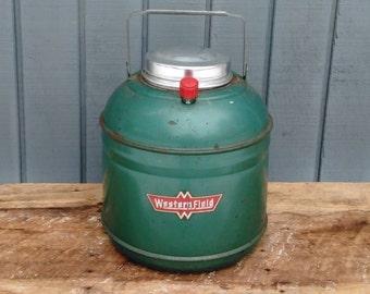 Westen Field Green Jug  - Vintage Camping - Western Field Thermos