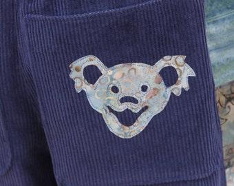 Handmade Hippie Inspired Patchwork Corduroy Pants Hippie Clothes Festival Clothes Festival Clothing Hippie Clothing Batik Blue Teal Green