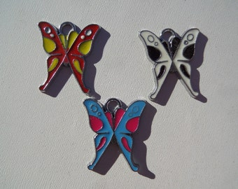 21mm Butterfly charms, 5CT, (Y20)