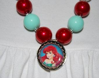 Girls Chunky Ariel (Little Mermaid) Necklace