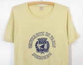 Vintage 70s Universite de Paris Sorbonne T-Shirt Men's M / Women's XL