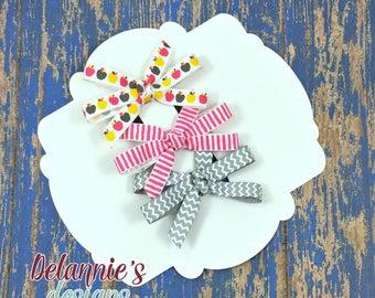Mini Set Of 3 Bows~ 3 inch Bows~ Pinwheel Bows