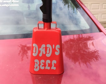 Personalized red cow bell