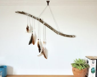 Sweet Vitality ~ dreamcatcher ~ feather wall hanging ~ folk boho hygge nature forest travel talisman navajo forage woodland ~ wedding, home