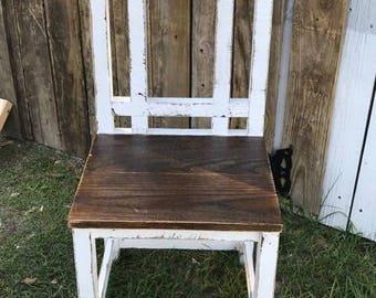 Solid oak handmade dining chair/kitchen chair/chair