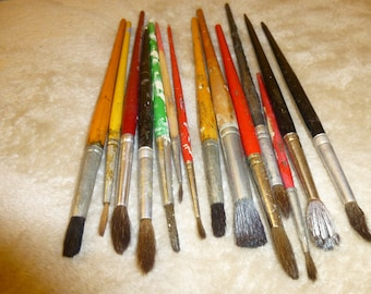 Paint Brushes Shabby Chippy Variety of Colors Supply for Crafts or Altered Art