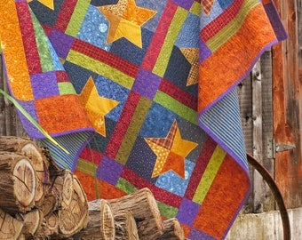 BARN STARS | pdf Quilt Pattern | Patterns | Quilts | Star Quilts | Traditional Quilts | Applique Quilts | Happy Quilts | Festive Quilts