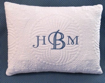 Monogrammed  pillow, Monogrammed Pillow, Throw pillow, Monogrammed throw pillow, Baby throw pillow, baby monogrammed pillow, Baby gift.