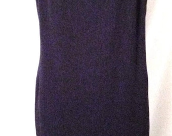 """MEMORIAL DAY SALE 80s Little Black Dress-Emanuel Ungaro-Evening-Chemise-High Fashion-Size 8-40"""" Bust-Medium-Holiday Party-Chic-Lace Trim"""
