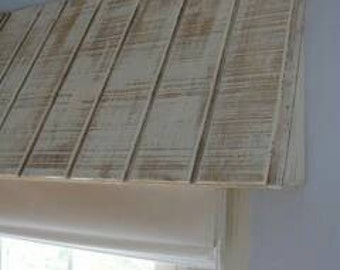 Rustic Wood Awning  Window Valance Custom Window Treatment Wood Valance Box Rustic Window Valance Rustic Cornice Board Custom Cornice Boards