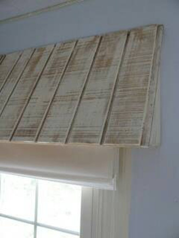 rustic wood awning window valance custom window treatment