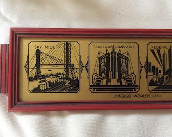 Vintage 1933 Chicago World's Fair Tray