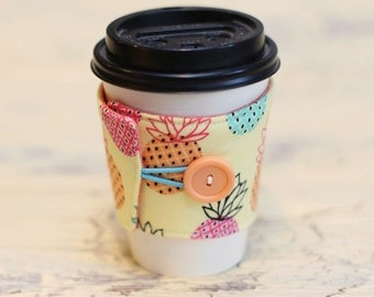Coffee Cup Sleeve Cozy - Pineapple