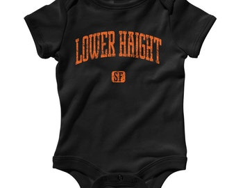 Baby One Piece - Lower Haight San Francisco - Infant Romper - NB 6m 12m 18m 24m - Baby Shower Gift, Haight-Fillmore Baby, Neighborhood, SF