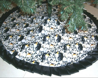 Christmas Tree Skirt 47 Purple Nightmare Before