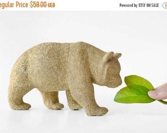 Extra Large Panda Bear Gold Glitter Critter. Winter Wedding Decor Sparkly Table Centerpiece or Baby / Bridal Shower Decoration Nursery Decor