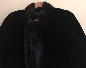 VINTAGE FAUX FUR Coat, Jacket Hillmoor New York, Vintage fur coat, retro vintage faux fur jacket, size M brown fur jacket, Lined fur coat
