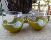 Pyrex Hot & Cold Drinkups Mugs  ~  2 Pyrex Drinkups Mugs  ~  Pyrex Roly Poly Mugs  ~  Olive Green Pyrex Drinkups Mugs  ~ Pyrex Fishbowl Mugs