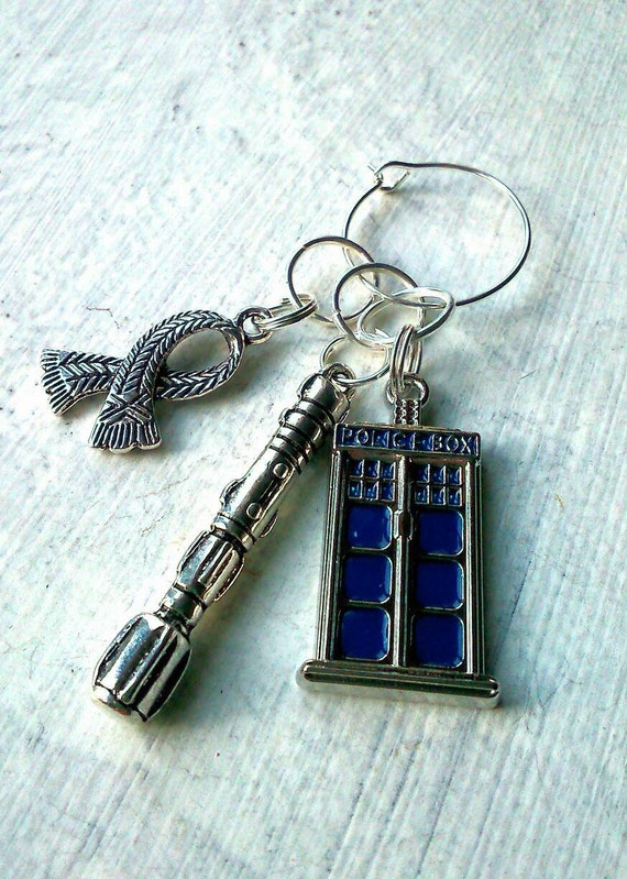 Knitting Markers Uk : Knitting stitch markers tardis dr who