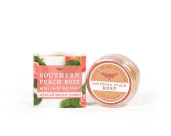 Southern Peach Rose Mini Perfume - All Natural - Soft Rose, Moss, and Ripe Peach