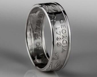 Georgia Quarter - Coin Ring - SILVER (.900)